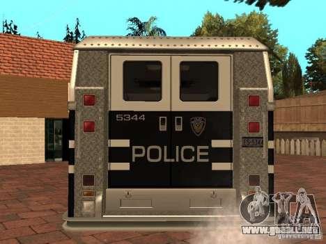 Máquina de sello HD para GTA San Andreas vista posterior izquierda