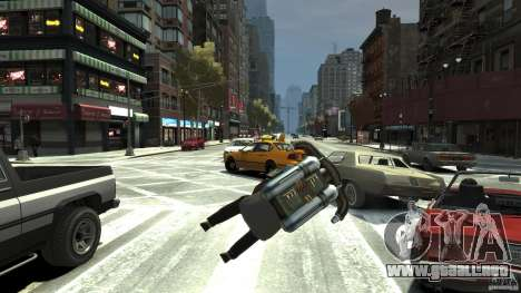 Jetpack para GTA 4 vista hacia atrás
