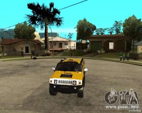 AMG H2 HUMMER TAXI para GTA San Andreas vista hacia atrás