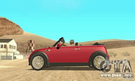 Mini Cooper Convertible para la visión correcta GTA San Andreas