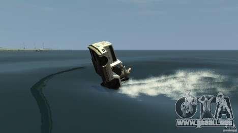 Airtug boat para GTA 4 vista hacia atrás
