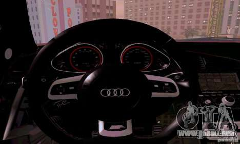 Audi R8 V10 Spyder 5.2. FSI para vista lateral GTA San Andreas