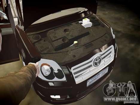 Toyota Avensis para GTA 4 interior