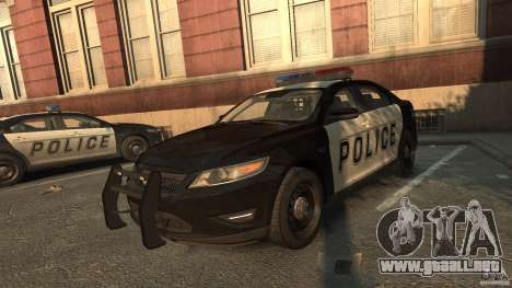 Ford Taurus Police Interceptor 2010 para GTA 4