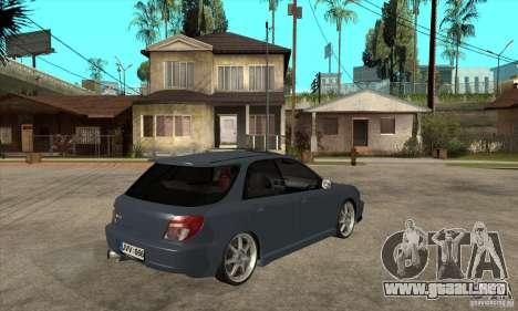 Subaru Impreza Universal para visión interna GTA San Andreas
