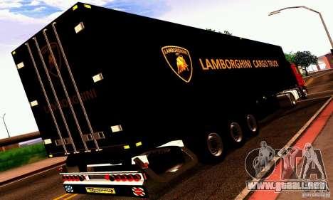 Lamborghini Cargo Truck para la visión correcta GTA San Andreas