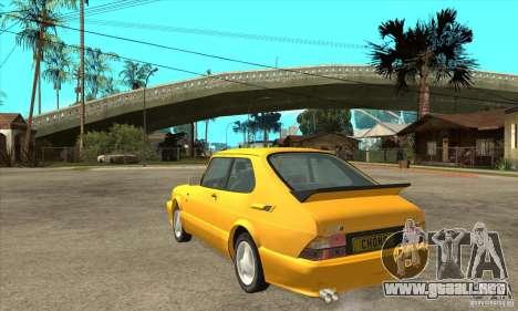 Saab 900 Turbo 1989 v.1.2 para la visión correcta GTA San Andreas