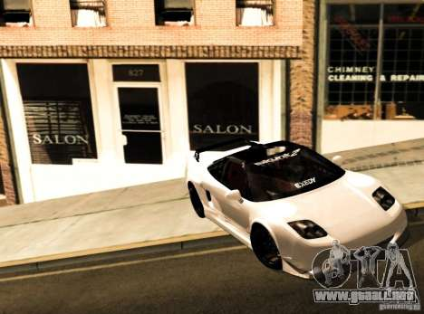 Acura NSX Tuned para GTA San Andreas left