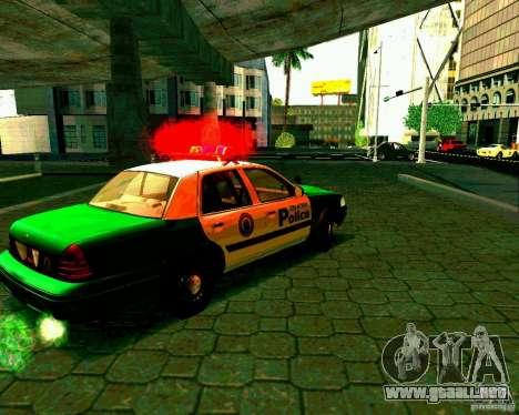 Ford Crown Victoria 2003 Police Interceptor VCPD para la visión correcta GTA San Andreas