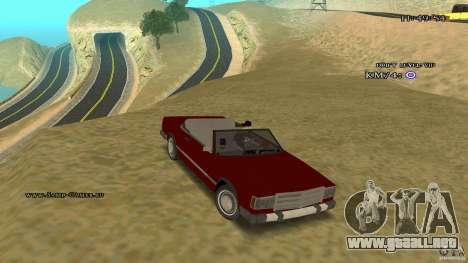 Feltzer HD para GTA San Andreas vista hacia atrás
