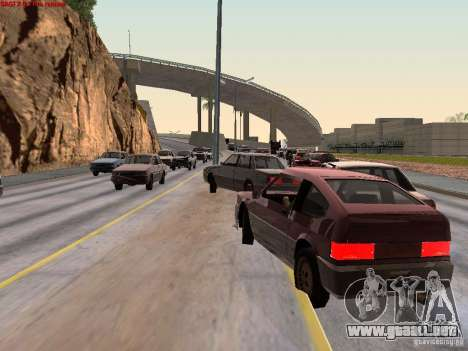 Realistic traffic stream para GTA San Andreas segunda pantalla