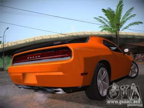 Dodge Challenger SRT8 v1.0 para GTA San Andreas vista hacia atrás