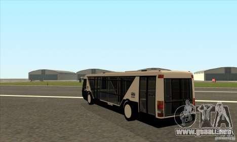 Neoplan Airport bus SA para GTA San Andreas vista posterior izquierda