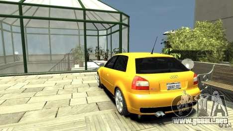 Audi S3 para GTA 4 Vista posterior izquierda