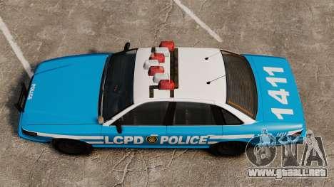 Vapid Police Cruiser ELS para GTA 4 visión correcta