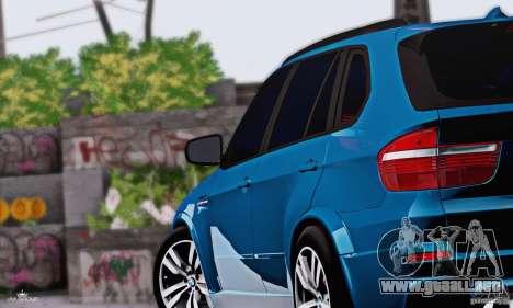 BMW X5M 2013 v1.0 para GTA San Andreas vista posterior izquierda