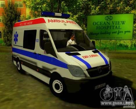 Mercedes-Benz Sprinter Baku Ambulans para GTA San Andreas