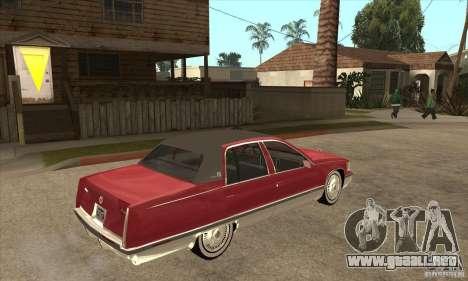 Cadillac Fleetwood 1993 para la visión correcta GTA San Andreas