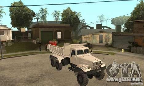 Camión KRAZ 225 para vista lateral GTA San Andreas