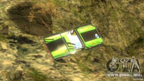 Raptor para GTA San Andreas vista hacia atrás