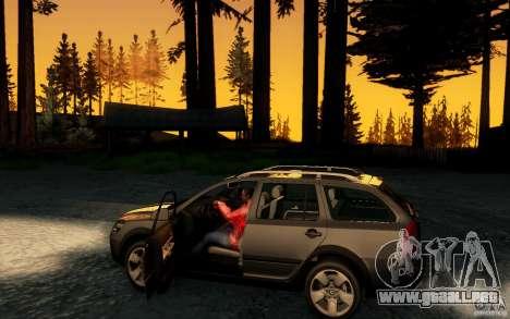 Skoda Octavia Scout para visión interna GTA San Andreas