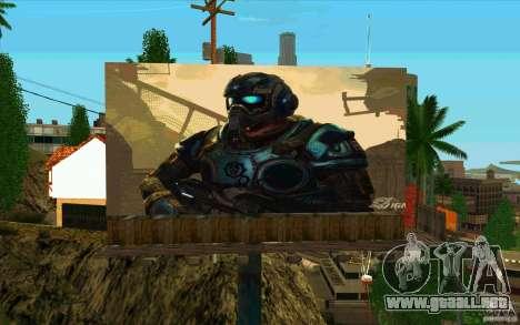 Vallas publicitarias en GEARS OF WAR para GTA San Andreas segunda pantalla
