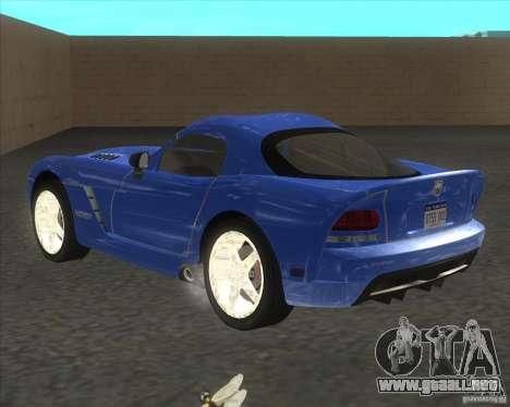 Dodge Viper para GTA San Andreas left