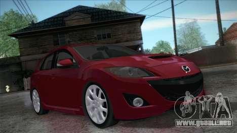 Mazda Mazdaspeed3 2010 para GTA San Andreas vista hacia atrás