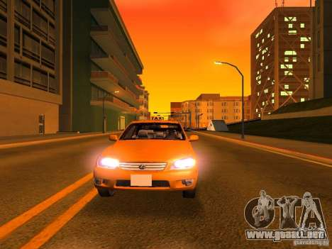 Lexus IS300 Taxi para GTA San Andreas interior