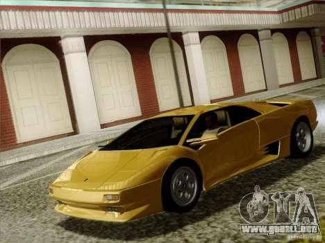 Lamborghini Diablo VT 1995 V3.0 para visión interna GTA San Andreas