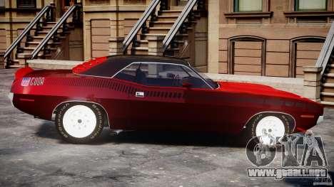 Plymouth Cuda AAR 340 1970 para GTA 4 left