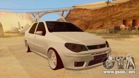 Fiat Albea para GTA San Andreas vista hacia atrás