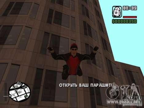Skydiver para GTA San Andreas quinta pantalla