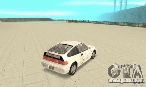 HONDA CRX II 1989-92 para la vista superior GTA San Andreas