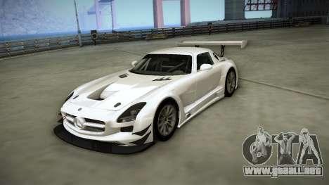 Mercedes-Benz SLS AMG GT3 para visión interna GTA San Andreas