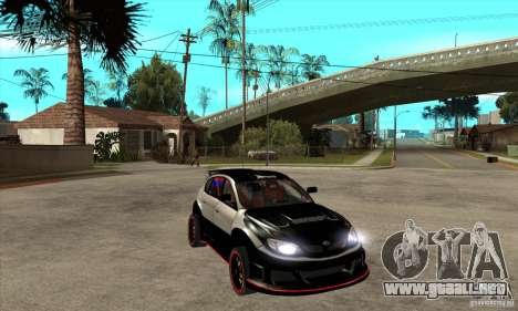 Subaru Impreza WRX STi 2008 para GTA San Andreas vista hacia atrás