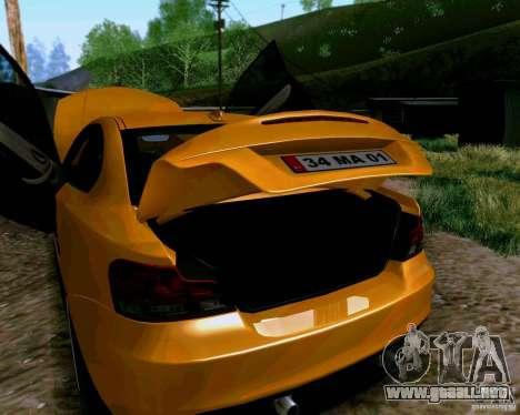 BMW 135 Tuning para GTA San Andreas vista hacia atrás