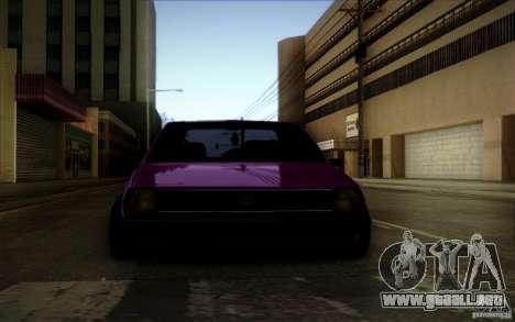Volkswagen Polo Pickup para GTA San Andreas vista hacia atrás