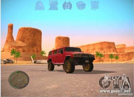 Patriota de GTA 4 para GTA San Andreas vista posterior izquierda