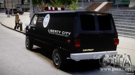 Chevrolet G20 Van V1.1 para GTA 4 Vista posterior izquierda