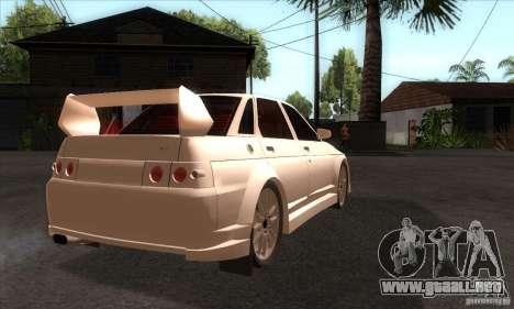 VAZ 2110 WRC para la visión correcta GTA San Andreas