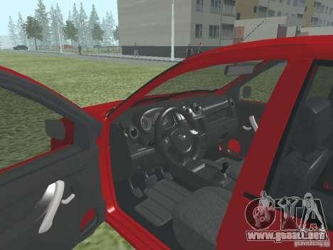 VAZ 2192 para GTA San Andreas vista hacia atrás