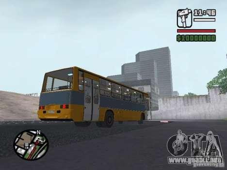 Ikarus 263 para GTA San Andreas vista hacia atrás