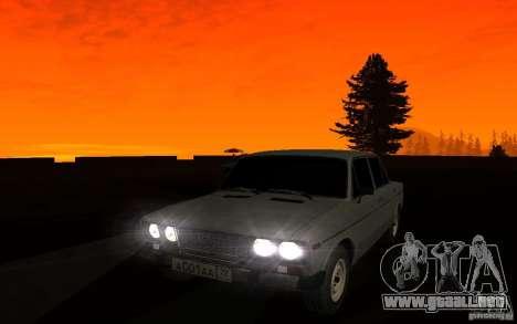 VAZ 2106 Tyumen para la vista superior GTA San Andreas