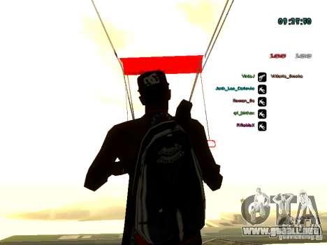 Mochila-paracaídas para GTA: SA para GTA San Andreas sexta pantalla