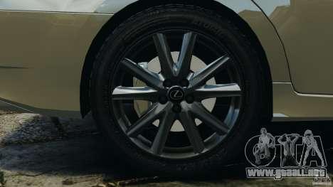 Lexus GS350 2013 v1.0 para GTA 4 vista superior