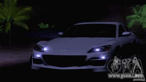 Mazda RX8 R3 2011 para visión interna GTA San Andreas