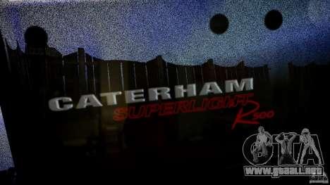 Caterham 7 Superlight R500 para GTA 4 vista superior