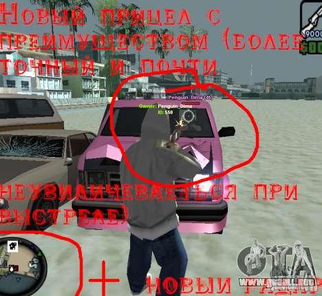 HUD para GTA San Andreas segunda pantalla