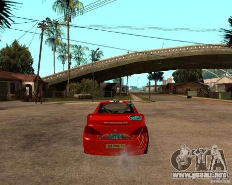 Peugeot 307 WRC para GTA San Andreas vista posterior izquierda